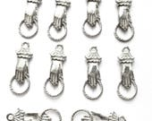 Pewter Hand Charm, Hand Connector, 10 Piece, Bsue by 1928, Jewelry Making, Made in the USA, B'sue Boutiques, 26 x 10mm, Item03462