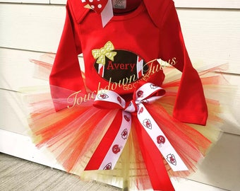 KC Chiefs inspired tutu outfit - or pick your team/colors