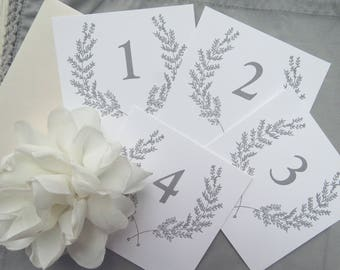 Printable Table Numbers  |  Instant Download PDF - Printable Table Numbers  |  Table Numbers Template  |  CLASSIC Collection Style 02