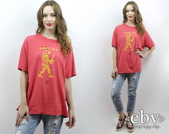 Vintage Pearl Jam T Shirt Pearl Jam Tee 90s Grunge Band T Shirt Shredded Band Tee Destroyed Tee Holey Band Tee 1990s Band Tee Destroyed Tee