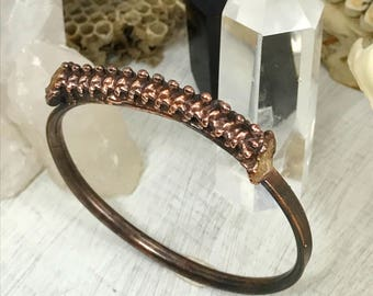 Snake Spine and Citrine bangle, bone jewelry, snake jewelry, vulture culture, gothic jewelry, stacking bracelet