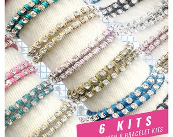 friendship bracelet kits, leather wrap bracelets, wrap bracelet kits, 6 DIY KITS, leather bracelets, make a bracelet kit, craft party kits