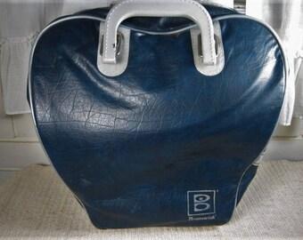 Vtg blue Brunswick bowling bag