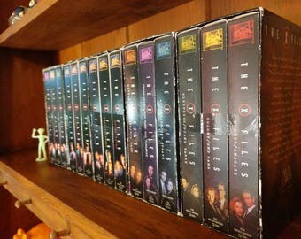 X-Files Collection of VHS Tapes 30 Select Episodes from Seasons 1 through 3 (15 Tape Lot)