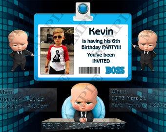 Boss Baby Custom Birthday Party Invitation