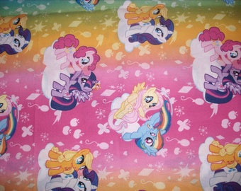 REMNANT-1/2 yard cotton fabric- My Little Pony