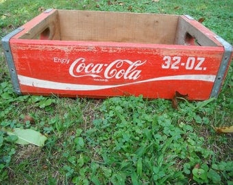 Vintage Wooden Coca Cola Soda Crate