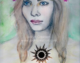 Sun Goddess Illustration