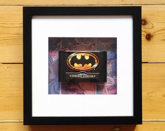 Batman Megadrive Game Framed Wall Art - Retro Gaming Valentines Birthday Christmas Gift Present Picture