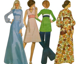 Vintage RETRO Creative Patterns 1970's Instructional Sewing Booklet and Pattern: High-Line Contrast B2