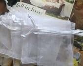 """120 pcs Organza bags, 3"""" x2"""" organza bag , favor bag , jewel organza bag,White organza bags, small organza bags, tiny organza bags"""