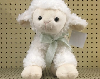 Easter gift idea etsy personalized lamb easter basket stuffers easter lamb easter plush animal easter gift negle Images