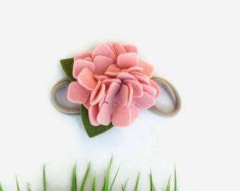 Baby Felt Flower Headband - Blush Baby Headband