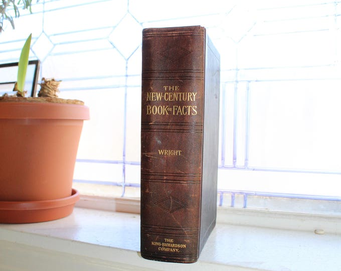 The New Century Book of Facts Antique 1909 Steampunk Book