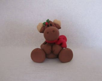 Christmas Moose Figurine