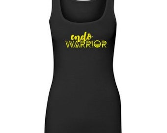 EndoWarrior Black Long Length Tank Top // Endometriosis Awareness // Fitness // Workout // Causes // Fitted