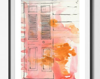 Day 037 'CHATTEL House Door' Extra Large ART PRINT Home Decor Bedroom Kitchen Living room Gift For Him  By The Urban Tiger