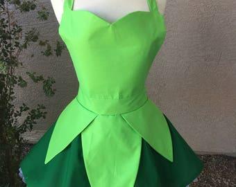 Plus- Tinkerbell costume apron dress