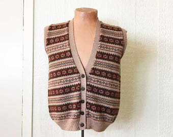 Fair isle vest | Etsy