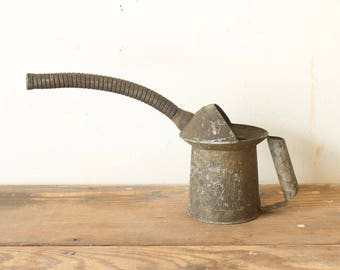 Rustic Vintage Metal Industrial Farm Tool Oil Can Gas Can Adjustable Spout Display Decorating Prop Industrial Farmhouse