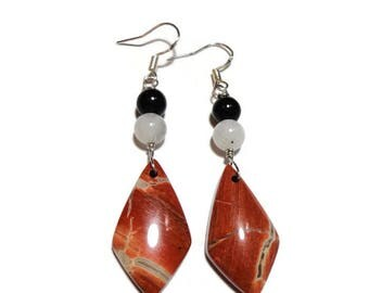 Red Jasper moonstone energy earrings