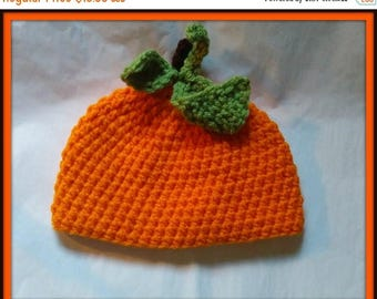 On Sale Pumpkin Baby Hat, Baby Toddler or Kids Size Handmade Crochet Made to Order