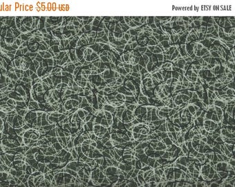 ON SALE Scribble Time, Olive Green Fabric, 1 yard Fabric, 01971