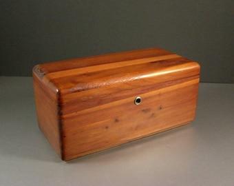 Miniature Vintage Lane Cedar Chest Jewelry Trinket Stash Box