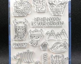 Cute Vikings Clear Stamp Set
