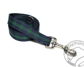 Black Watch Tartan Leash // Matching Tartan Dog Leash in all widths // Plaid Leashes // Tartan Lead // Blackwatch with Dark Edge
