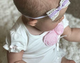 Baby Headband - Baby Girl Headband - Newborn Headband - Baby Bow Headband - Pink Headband - Baby Accessories - Infant Headband - Photo Prop