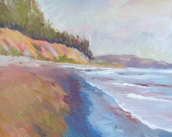 Beach print, Goleta Beach,beach decor, beach artwork, Goleta Slough, ocean canvas print, Art prints, Santa Barbara art, Goleta Beach art,