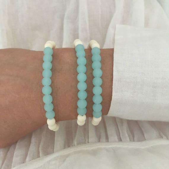 cultured sea glass jewelry , beach bracelet , beachcomber