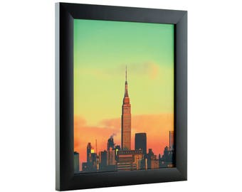 "Craig Frames, 8x11 Inch Modern Black Picture Frame, Contemporary 1"" Wide (1WB3BK0811)"