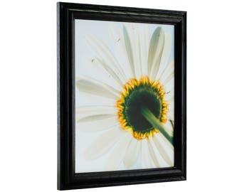 Craig Frames, 16x20 Inch Black Hardwood Picture Frame, Wiltshire 130 (130ASHBK1620)