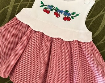 Vintage Samara Baby Dress, 6-9 mos.