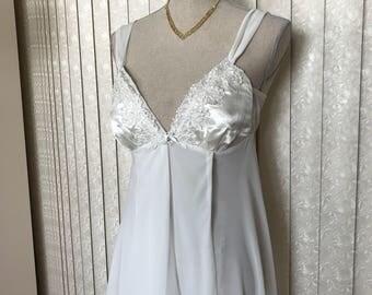 Flora Bridal Satin Nightgown , Medium