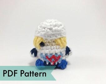 Sheik from Legend of Zelda Crocheted Amigurumi Finger Puppet PDF Pattern