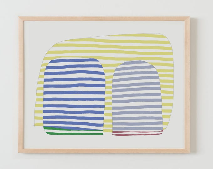 Fine Art Print.  Stripe Study Multicolor, September 4, 2017.