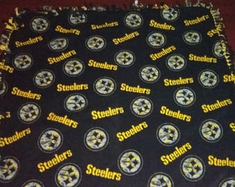 Pittsburgh Steelers Fleece Tie Blanket