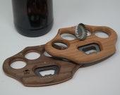 Décapsuleur en bois - Ouvre-bouteille - Poing américain - Aimanté