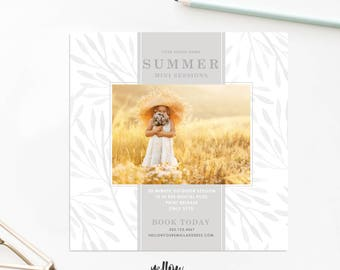 Mini Session Template - Summer Minis - Wedding Marketing Template - Floral Mini Session - Instagram Template - Photography Mini Sessions
