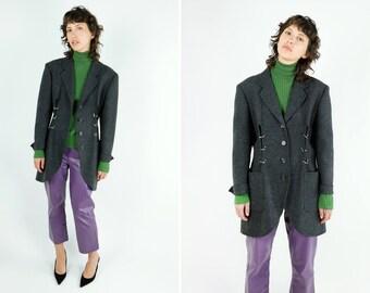 ISSEY MIYAKE Pierced Jacket / Studded Ring Coat