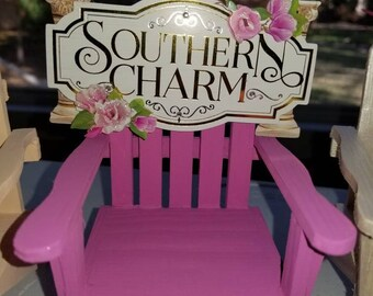 3 sets available of the Southern Charm Adirondack chair ornaments! Have personalized on front of the seat with a name or year! Great gifts!