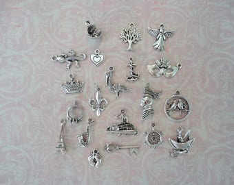 Charms - New Orleans Themed Wedding Cake Charms, Wedding Cake Pulls, Cake Charms