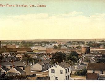 Vintage Postcard....Canada, Brantford, Ontario, Bird's Eye View ..Used, 1912...no. CAN0007