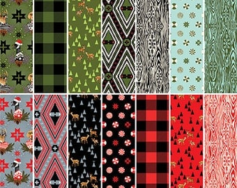 Holiday Homies by Tula Pink - FQ Fat Quarter cotton quilt fabric bundle 717