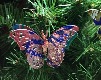 3D La Croix Butterfly Ornament- Embellishment-Floral Arrangement Decoration-Wedding Decor-Scrapbook-Ornament Exchange-Upcyled Soda Can