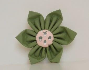 Succulent Dog Flower Green Pink Summer Collar Wedding Accessories