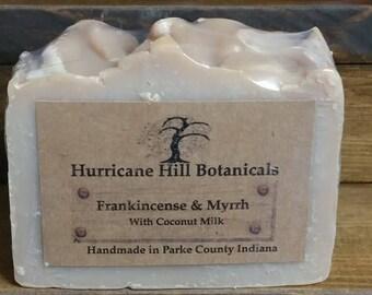 Frankincense and Myrrh Coconut Milk Soap